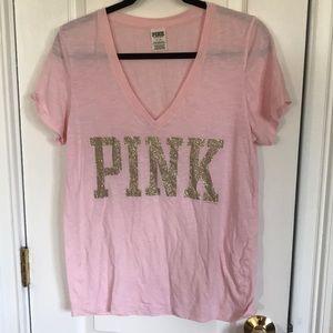PINK Victoria's Secret Pale Pink V Neck